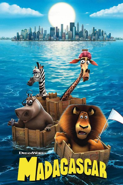 Animated movie Madagascar poster