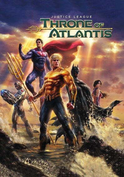 Animated movie Justice League: Throne of Atlantis poster