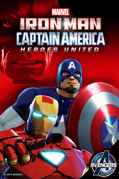 Animated movie Iron Man and Captain America: Heroes United poster