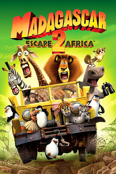 Animated movie Madagascar: Escape 2 Africa poster
