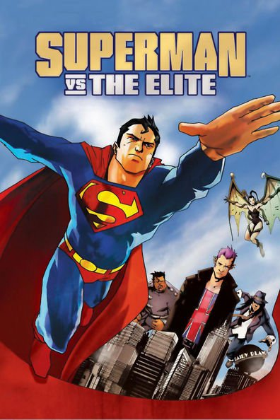 Animated movie Superman vs. The Elite poster