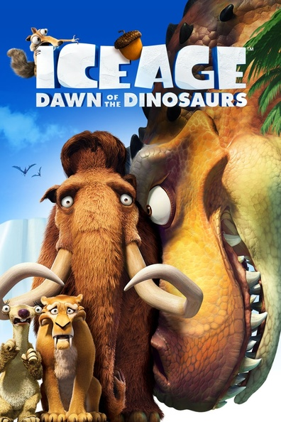 Ice Age: Dawn of the Dinosaurs cast, synopsis, trailer and photos.