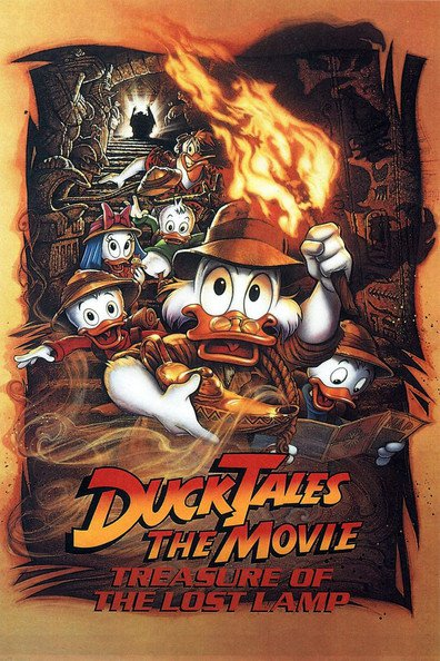 Animated movie DuckTales the Movie: Treasure of the Lost Lamp poster
