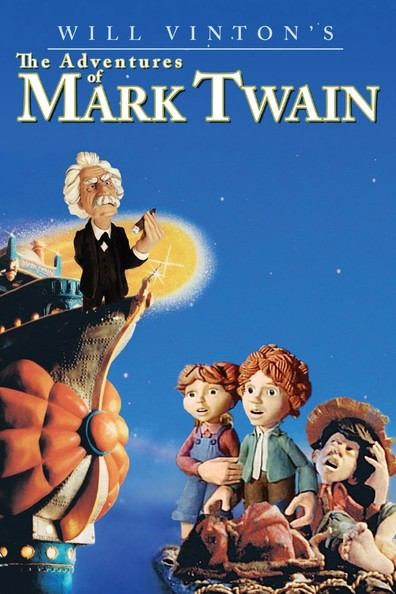 Animated movie The Adventures of Mark Twain poster
