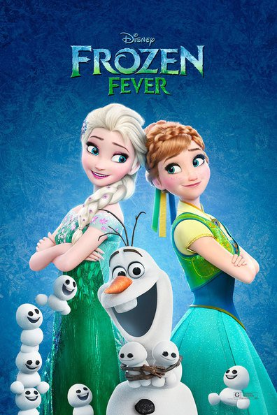 Animated movie Frozen Fever poster