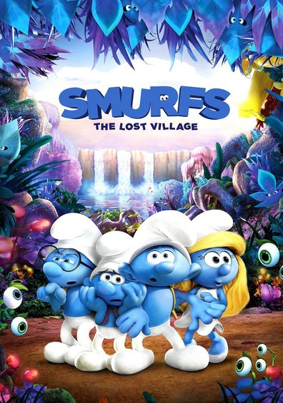 Animated movie Smurfs: The Lost Village poster