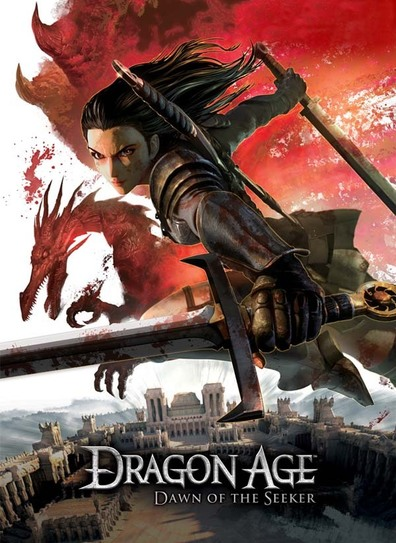 Animated movie Dragon Age: Blood mage no seisen poster