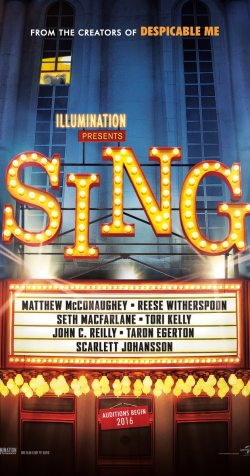 Best animated film Sing images, cast and synopsis.